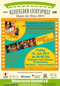 Open Air Kino in Hannover-Kleefeld