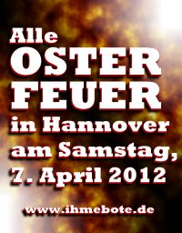 Alle Osterfeuer 2012 in Hannover