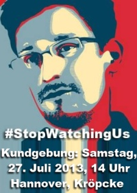 27.07. #StopWatchingUs � Hannover