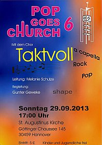 Pop goes church 6 mit dem Chor Taktvoll