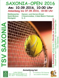 Tennis: Saxonia-Open 2016